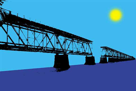 Bahia Honda Bridge Graphic